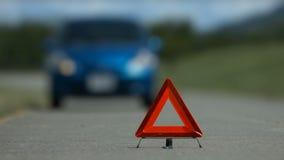 Manija dejada accidente del problema del coche almacen de video
