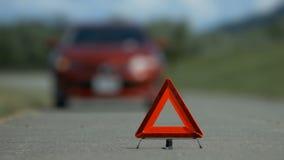 Manija dejada accidente del problema del coche metrajes