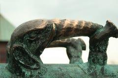 Manija del canon del elefante del metal imagen de archivo libre de regalías