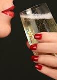 Maniküre Champagne Stockfotografie