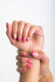 Maniküre- und Nagelkunst Stockfotos