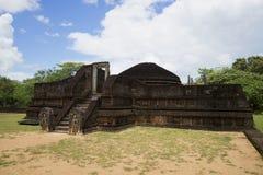 Manik Vehera寺庙的废墟  Polonnaruwa,斯里兰卡 免版税库存图片