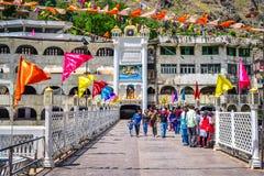 Manikaran Himachal Pradesh Indien Arkivbilder