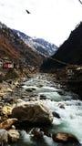 Manikaran, Parvati-Fluss stockfotografie