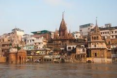 Manikarnika Ghat Stockfotografie