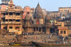 Manikarnika Ghat Royalty Free Stock Images