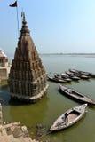 Manikarnika Ghats in Varanasi Royalty Free Stock Images