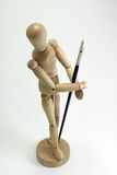 Manikin and Artist Brush Stock Image