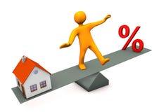 Manikin Balance Discount House Royalty Free Stock Photo