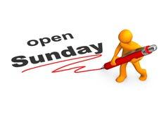 Manikin Ballpen Open Sunday Royalty Free Stock Photo