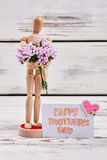 Manikin and bunch. Royalty Free Stock Images