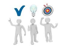 Manikin Check Bulb Target Stock Image