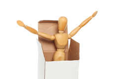 Manikin coming out Stock Images