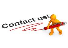 Manikin Contact Us Stock Image