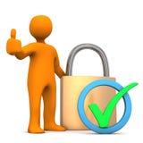 Manikin D-Lock Ok Stock Image