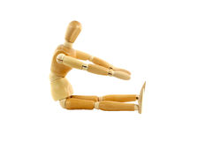 Manikin doing a sit up Royalty Free Stock Photo