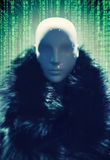 Manikin with fur collar Stock Photo