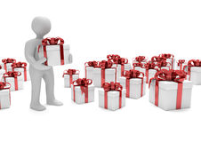 Manikin With Gifts Stock Photography