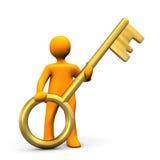 Manikin Golden Key Royalty Free Stock Image