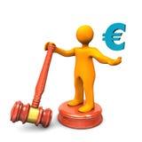 Manikin Hammer Euro Royalty Free Stock Image