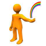 Manikin Hand Rainbow Stock Photo