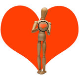 Manikin and heart Stock Photo