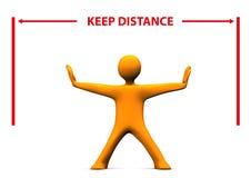 Manikin Keep Distance Stock Photos