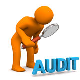 Manikin Loupe Audit Royalty Free Stock Images