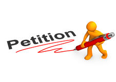 Manikin petycja Zdjęcia Stock
