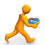 Manikin Run Compass Stock Images