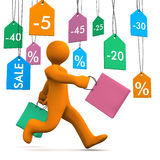 Manikin Shopmarks Run Royalty Free Stock Photos