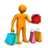 Manikin Shopping Bags Gift Stock Images