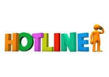 Manikin Smartphone Hotline Stock Images
