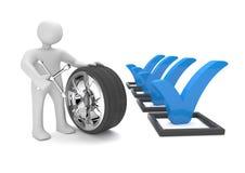 Manikin Tire Checklist Stock Photos