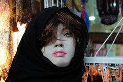 Manikin in traditional Arabic dress Stock Image