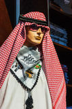 Manikin in traditional Arabic dress Stock Images