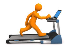 Manikin Work Treadmill Royalty Free Stock Image
