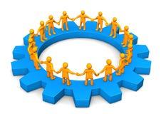 Manikins Circle Gearwheel Royalty Free Stock Photo