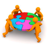 Manikins Circle Puzzle Stock Photo