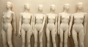 Manikins without clothes Royalty Free Stock Images