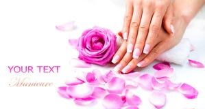 Manikyr och händer Spa Royaltyfria Bilder