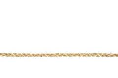 изолированная белизна веревочки manila переплетенная Стоковое Фото