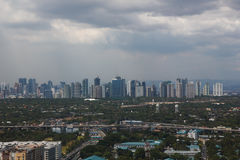 Manila from the air, capital of the philippines royalty free stock images