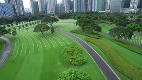 Manila American Cemetery and Memorial. Located in Fort Bonifacio, Taguig City, Metro Manila. Within the boundaries of the former Fort William McKinley stock video footage
