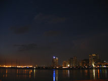 Manila bay at dusk. This photo was taken in manila bay in april of 2006 Royalty Free Stock Images