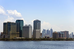 Manila baywalk city skyline luzon philippines Royalty Free Stock Photos