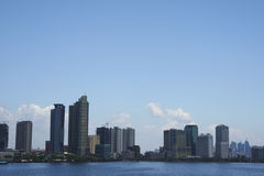 Manila baywalk city skyline philippines Royalty Free Stock Photos