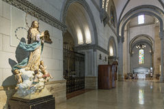 Manila cathedral interior and statue in philippines Stock Images