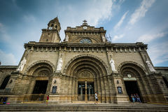 The Manila Cathedral, in Intramuros, Manila, The Philippines. Royalty Free Stock Photography