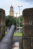 Manila City Hall at Intramuros Wall Royalty Free Stock Photo